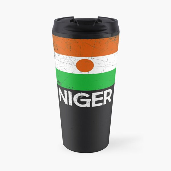 Nigerien Flag Design | Vintage Made In Niger Gift Travel Mug