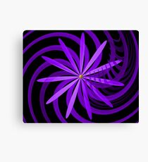 Somewhere are Purple Flowers Blooming Canvas Print