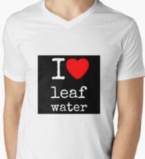 { leaf water }  Men's V-Neck T-Shirt