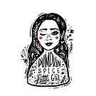 Coffee Pumpkin Spice Girl by Miruna Illustration