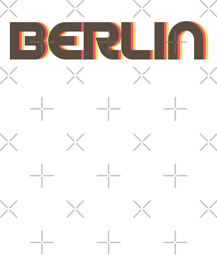 Retro Berlin T-Shirt by designkitsch