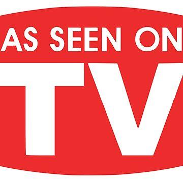 As Seen On TV Pop Art Emblem by BunnyThePainter