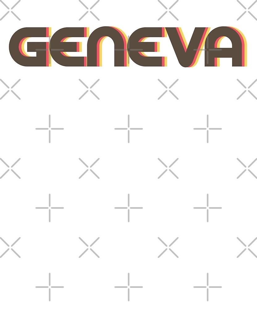 Retro Geneva T-Shirt by designkitsch