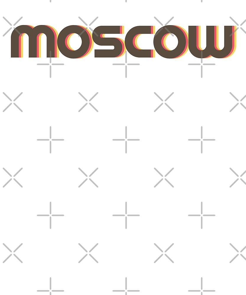 Retro Moscow T-Shirt by designkitsch