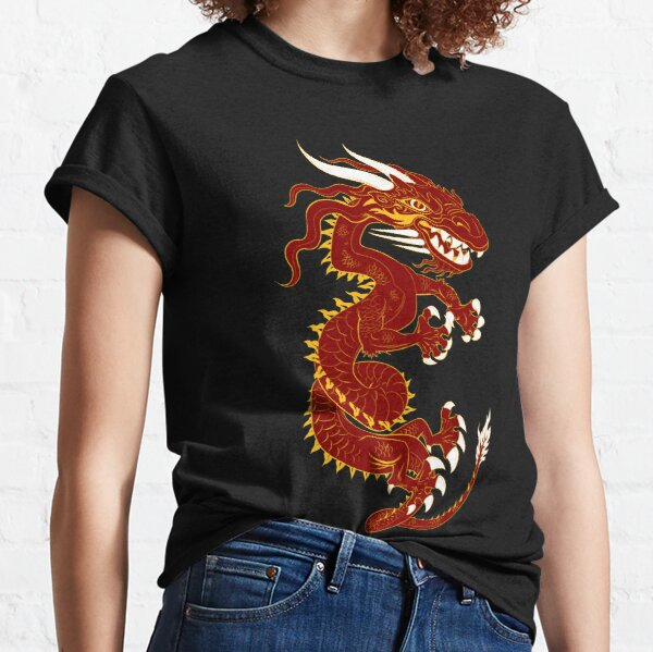 Red Dragon with Golden Style Classic T-Shirt