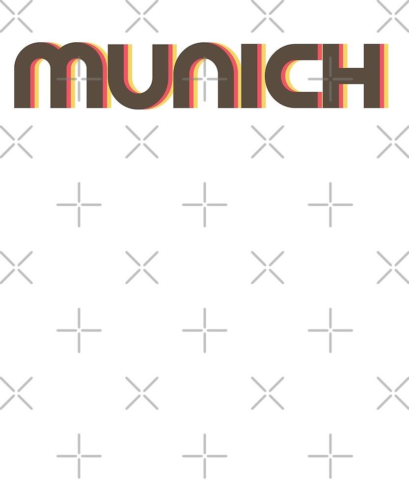 Retro Munich T-Shirt by designkitsch