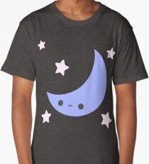 Smiling Moon and Stars Long T-Shirt