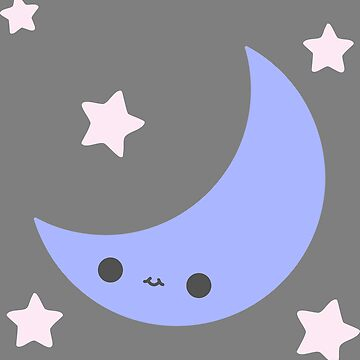 Smiling Moon and Stars by meetminnie