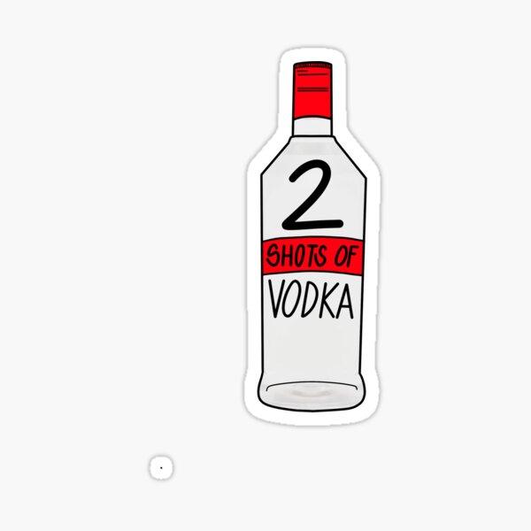 2 (?!?!!) Coups de vodka Sticker