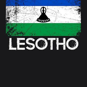 Basotho Flag Design   Vintage Made In Lesotho Gift by melsens