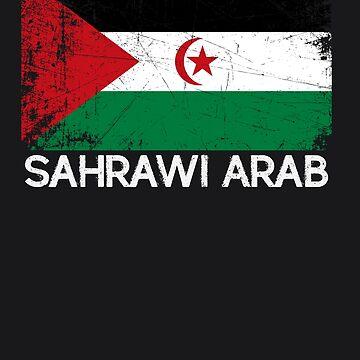 Sahrawian Flag Design   Vintage Made In Sahrawi Arab Gift by melsens