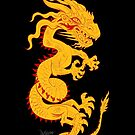 Golden Dragon with Red Style by Dave Stephens