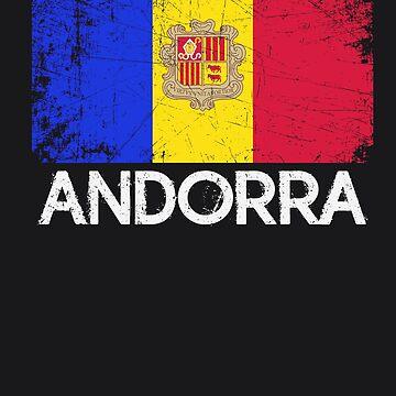 Andorran Flag Design   Vintage Made In Andorra Gift by melsens
