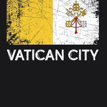 Vatican Flag Design   Vintage Made In Vatican Gift by melsens