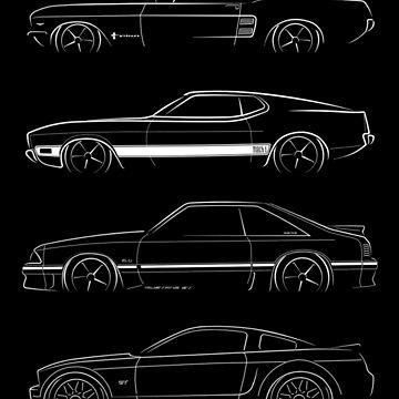 Evolution of the Ford Mustang by mal-photography