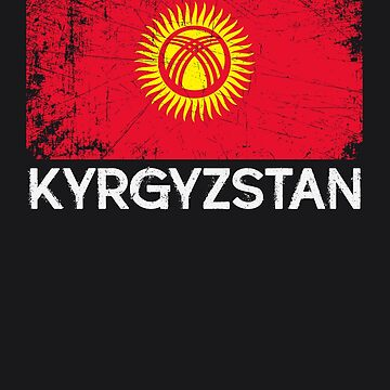 Kyrgyzstani Flag Design | Vintage Made In Kyrgyzstan Gift by melsens