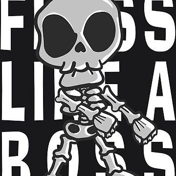Floss Like A Boss Skeleton Art   Halloween Flossing Skull by melsens