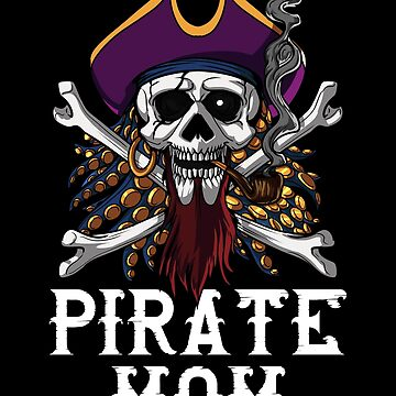Pirate Mom Skull Crossbones Jolly Roger Gasparilla Sailor by underheaven