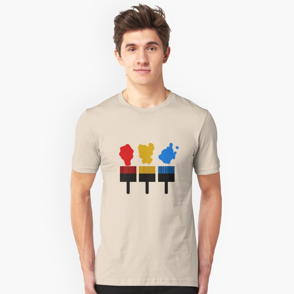 Paintbrush TShirt Unisex T-Shirt Front