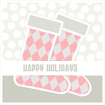 Happy Holidays Argyle Stockings by Craftvolphan