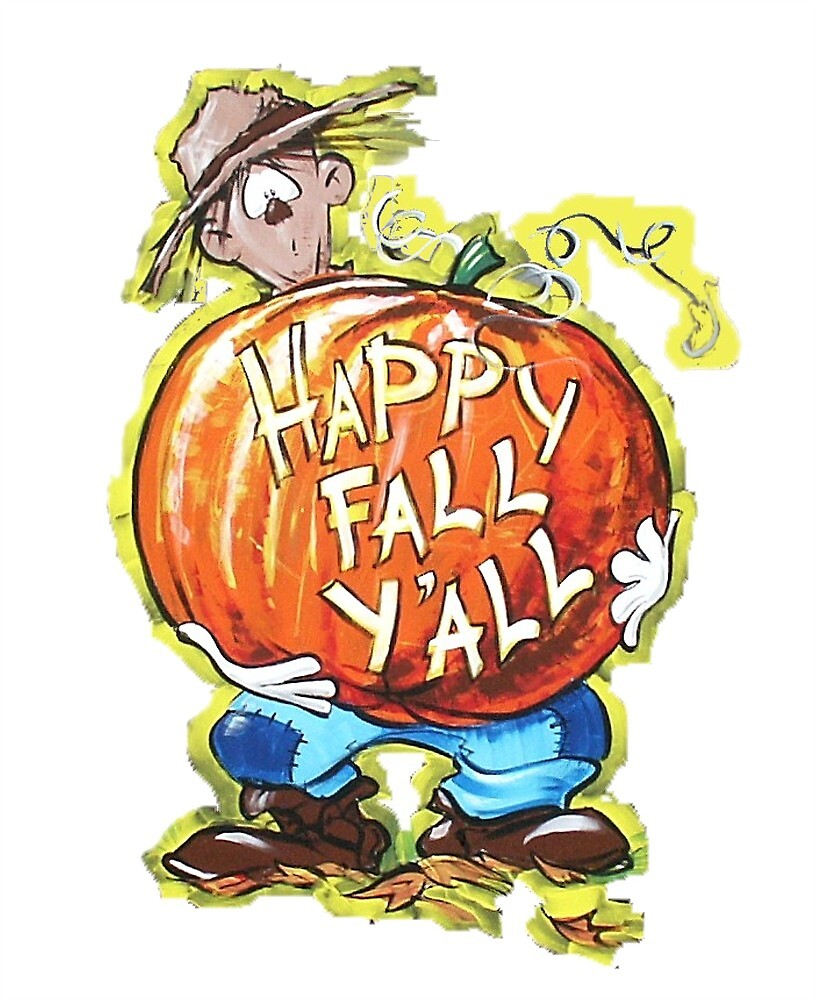 Scarecrow with Pumpkin by Dan Lewis