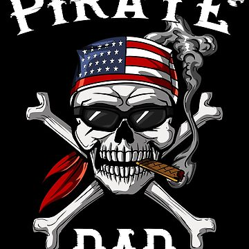 Dad Pirate Skull Jolly Roger Father Gasparilla by underheaven