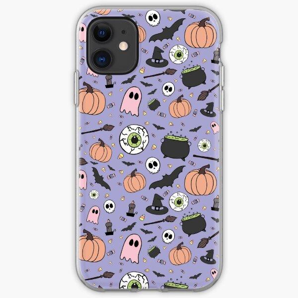 Pastel Halloween Pattern iPhone Soft Case