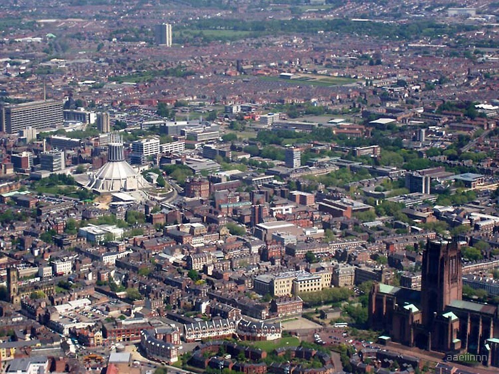 the two cathedrals of Liverpool by aaeiinnn