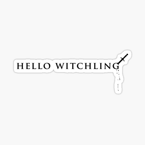 Hello Witchling Sticker