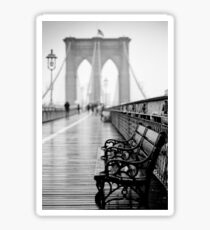 Brooklyn Bridge Bench Sticker
