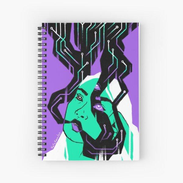 Glitch Witch Spiral Notebook