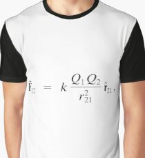 #Physics #CoulombsLaw #Coulomb #formula #physicsformula #Law #text #illustration #art #vector #design #whitecolor #colorimage #backgrounds #typescript #inarow #separation #cutout #square Graphic T-Shirt