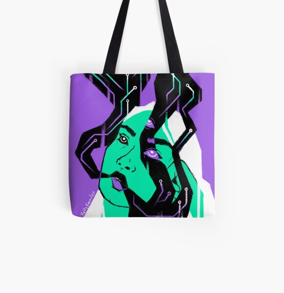 Glitch Witch All Over Print Tote Bag