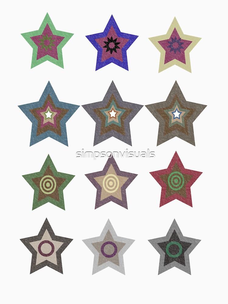Star Pattern TShirt by simpsonvisuals