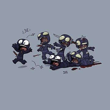 Ninja Zombies by dooomcat