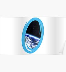 Portal 2: view from the moon Poster