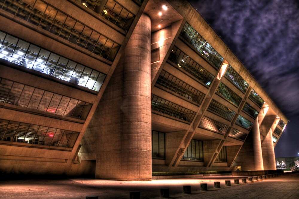 Dallas City Hall at Night by Terence Russell
