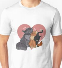Krieger Katzen: Greystripe, Firestar und Rabenpfote Unisex T-Shirt