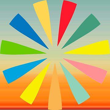 Colorful Sunburst by BuzzEdition