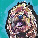 «Divertido perro Cockapoo brillante colorido arte pop» de bentnotbroken11