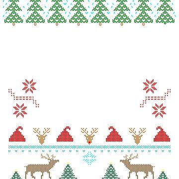 Feliz Navi Dad Ugly Christmas Pun Mustache Design by BrobocopPrime