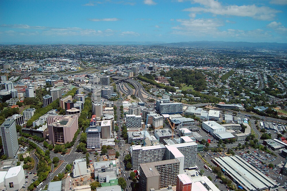Auckland From Above Looking North by Jonathan Hughes