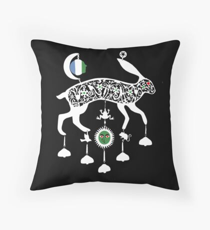 The jewelled hare from Masquerade Throw Pillow