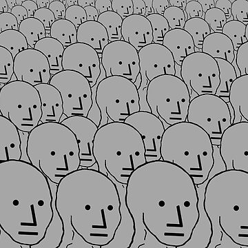 NPC Crowd - Wojak by RebarForOwt