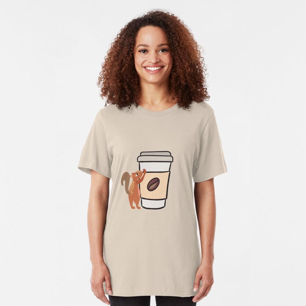 Caffeinated Squirrel Slim Fit T-Shirt