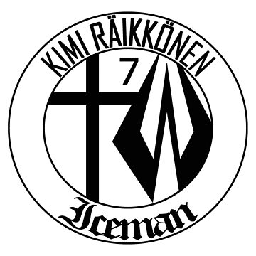 Kimi Raikkonen Emblem - Black by evenstarsaima