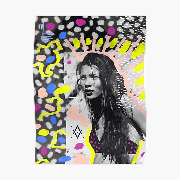 Kate Moss Pop Art Aesthetic collage Poster
