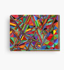 Abstract Art Study - Wild Colors Canvas Print