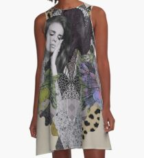 Lana Del Ray mixed media collage A-Line Dress