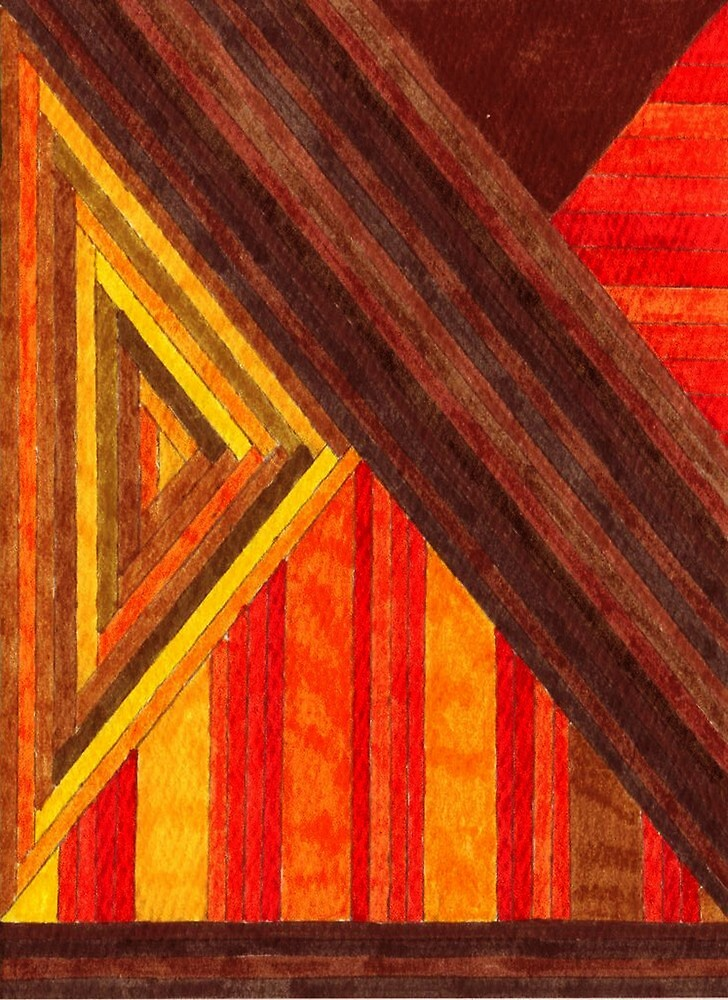 Abstract Art Study - Browns & Oranges & Reds by Oldetimemercan